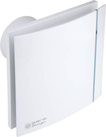 Silent 100 cz design hvid ventilator standard 188x188mm for Decor 100 silent