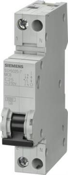 18mm modul 1 - 6ka c 4a n 1p automatsikring siemens