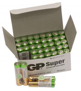 40-pak bulk lr3 aaa super gp - batteri alkaline