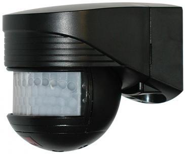 sort - bevægelsesensor 1000w 12m 200 lc-click pir luxomat