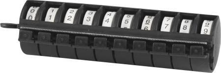 0-9 fra ruller incl dispenser mark-on