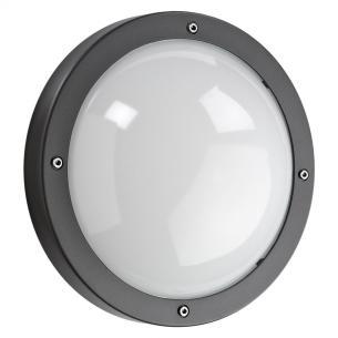 grå - ip65 væglampe e27 primo - armaturen sg