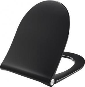 sort stål rustfrit i beslag inkl lift-off og close soft med toiletsæde 934 d sway pressalit