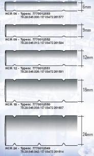 rulle mtr 5 tape dymo 6mm for mærkeprofil kabelopmærkning