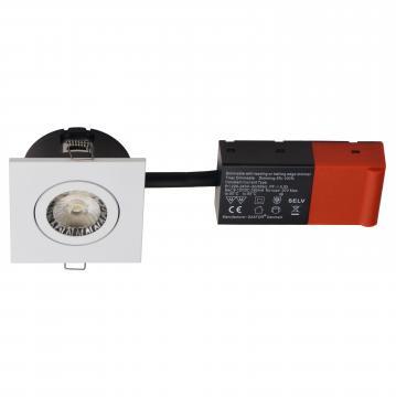 hvid ii line new square 2700k 5w led inkl mm 40 h 87x87mm 2-fix easy daxtor