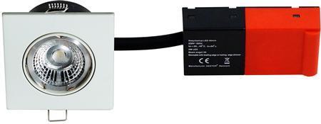 hvid lyskilde led 5w incl 230v 87x87mm 2-setup easy daxtor