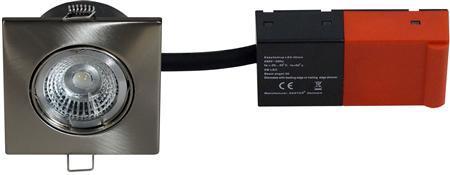 stål børstet lyskilde led 5w incl 230v 87x87mm 2-setup easy daxtor