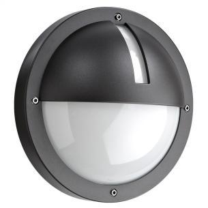 grafitgrå - ip65 væglampe skumringsrelæ m 3000k 5w 11 led 1100 uno - armaturen sg