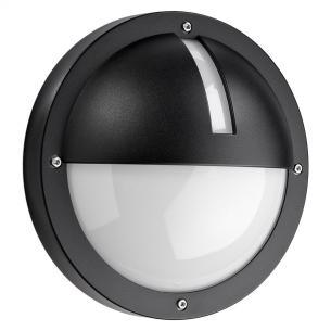 sort - ip65 væglampe skumringsrelæ m 3000k 5w 11 led 1100 uno - armaturen sg