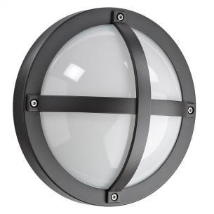 grafitgrå - ip65 væglampe skumringsrelæ m 3000k 5w 11 led 1100 solo - armaturen sg