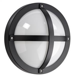 sort - ip65 væglampe skumringsrelæ m 3000k 5w 11 led 1100 solo - armaturen sg