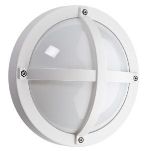 hvid - ip65 væglampe skumringsrelæ m 3000k 5w 11 led 1100 solo - armaturen sg