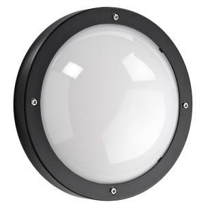 sort - ip65 væglampe skumringsrelæ m 3000k 5w 11 led 1100 primo - armaturen sg