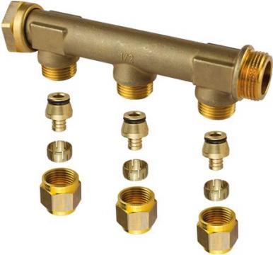 mm 15 afgreninger 3 med omløber med 4 3 fordelerrør uponor