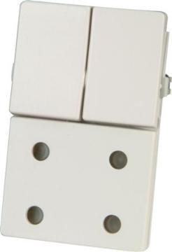 lysegrå modul 5 1 afbryder m dobbelt stikkontakt fuga lk