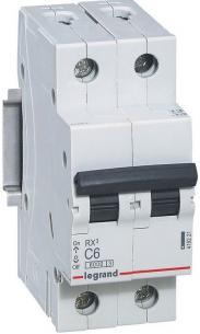 rx3 - 6ka modul 2 n 1p 10a c automatsikring legrand