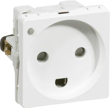 hvid modul 0 1 ledelampe jord m stikkontakt fuga lk