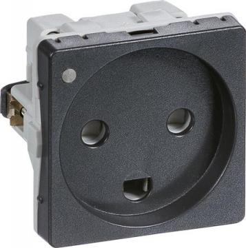 koksgrå modul 0 1 ledelampe jord m stikkontakt fuga lk