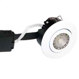 white turnable hvid mat ip44 dæmpbar 2200-2700k 8w ø97mm profile low - 6161 nordtronic