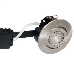 white turnable børstet ip44 dæmpbar 2200-2700k 8w ø97mm profile low - 6162 nordtronic