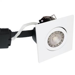 white turnable hvid mat ip44 dæmpbar 2200-2700k 8w 97x97mm profile low - 6163 nordtronic