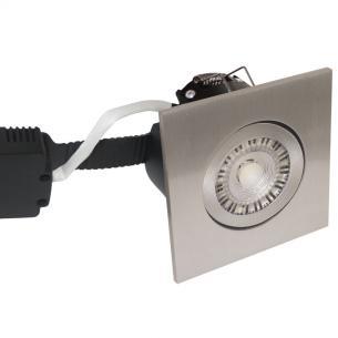 white turnable børstet ip44 dæmpbar 2200-2700k 8w 97x97mm profile low - 6164 nordtronic
