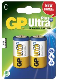 2-pak lr14 c plus ultra gp - batteri alkaline