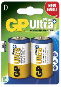 2-pak lr20 d plus ultra gp - batteri alkaline