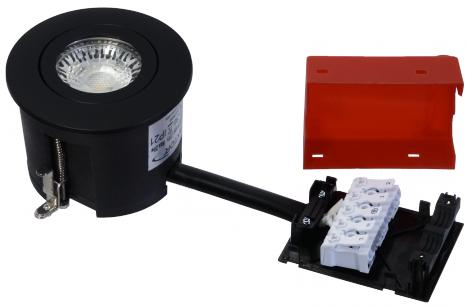lyskilde ex sort mat gu10 230v ø87mm 2-use easy daxtor