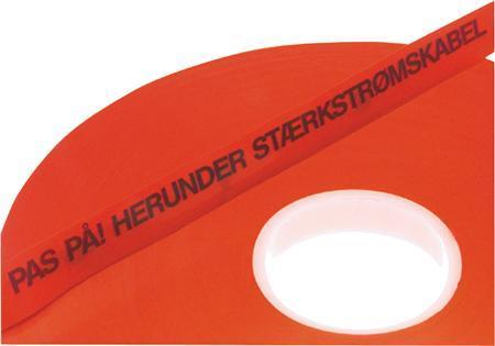 kabeldækbånd rød 3mm 25x0 tynd markeringsbånd