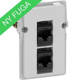 afdækninger uden modul 5 1 konnektor inklusiv leveres 8 8 2xrj45 dataudtag fuga lk