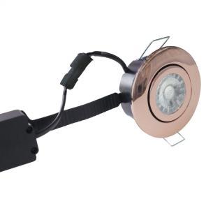 kobber ip44 dæmpbar hvid varm 2700k 6w ø87mm led flexible profile low - 3508 nordtronic