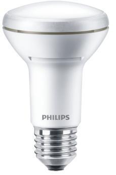 reflektorpære 100w 7w dæmpbar ikke 40 lumen 667 e27 827 7w r80 corepro led philips