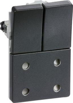 koksgrå modul 5 1 afbryder m dobbelt stikkontakt fuga lk
