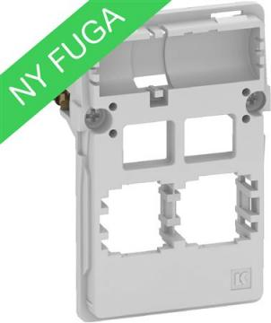 konnektor 2xrj45 f lysegrå modul 5 1 t3 dataudtag fuga lk