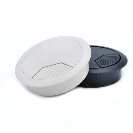 sort ø60mm plast - bord-kabelgennemføringsflange
