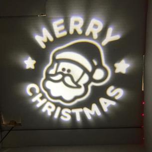 1w ø2m christmas merry juleprojektør led