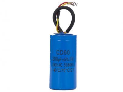 cd60 ledning med 250vac 200uf - kondensator start motor