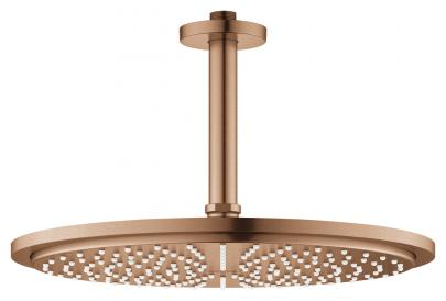 sunset warm børstet - spray 1 mm 142 loft til sæt hovedbruser 310 cosmopolitan rainshower grohe