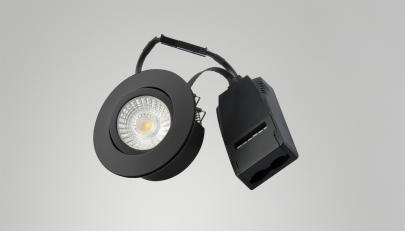 profile low - sort ra95 38 320lm 3000k 6w led downlight 2 v 30 diospot