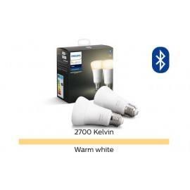 pack 2 - pære led eu a60 e27 5w 9 white hue philips