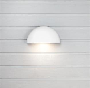 strømstik uden - hvid 830 7w væglampe arc hidealite