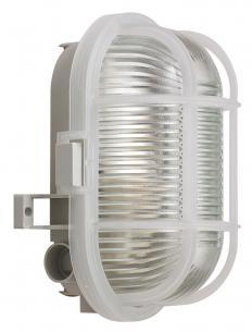ip44 - grå e27 skotlampe oval - sonlux