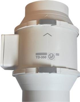 ø125mm timer m kanalventilator 125t 350 td p s