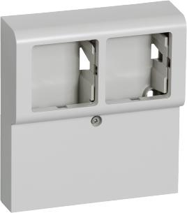 lysegrå sprosse med vandret modul 2 panelunderlag softline fuga lk
