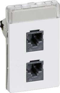 hvid konnektorer med e kat5 modul 5 1 t3 dataudtag fuga lk