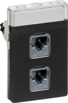koksgrå konnektorer med e kat5 modul 5 1 t3 dataudtag fuga lk