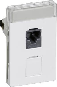 hvid konnektor med e kat5 modul 5 1 t3 dataudtag fuga lk