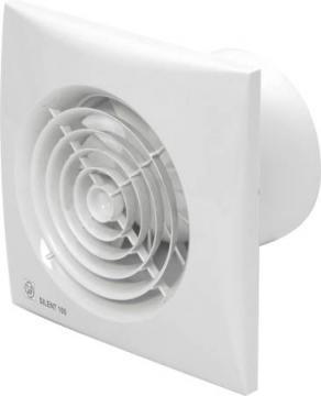 ø99mm 158x158mm timer og hygrostat med ventilator fugtstyret hvid chrz 100 silent p s