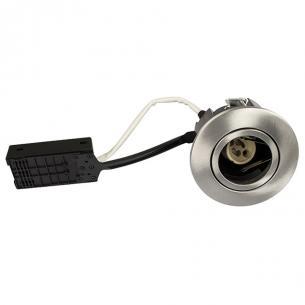 lyskilde ex - alu børstet gu10 ø88mm rund qi luna - products scan